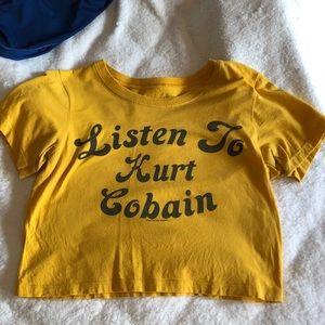 Kurt Cobain crop top